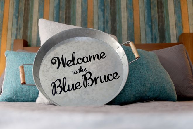 """The Blue Bruce - Bed & Breakfast """"The Cottage"""" Room Near St. Jacobs Ontario"""