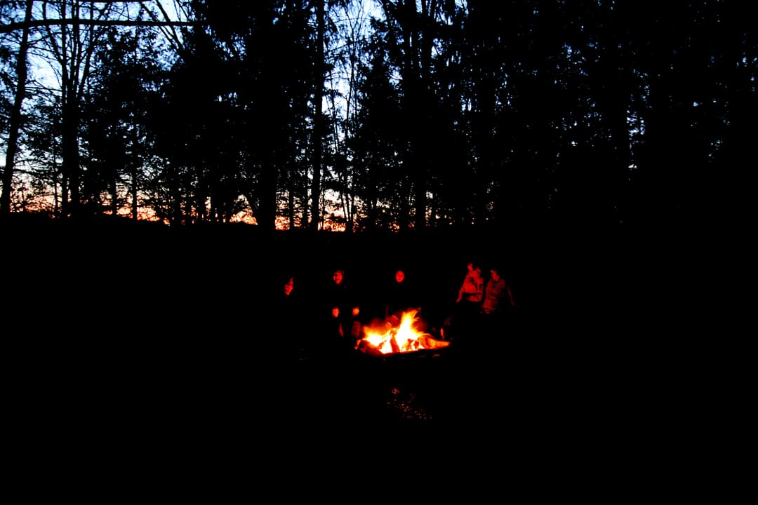 Secluded Firepit at The Blue Bruce - Weddings | Bed & Breakfast | Events Near St. Jacobs Ontario