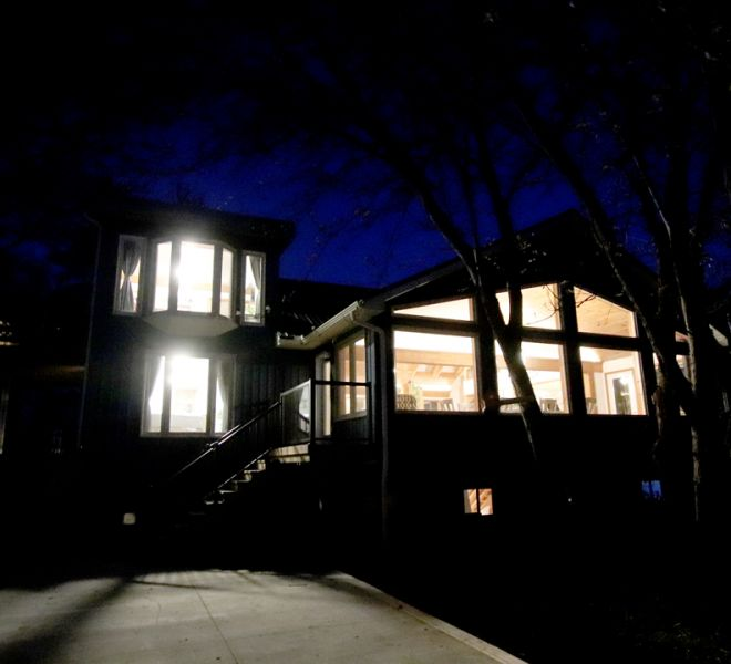Evening View of The Blue Bruce - Weddings | Bed & Breakfast | Events Near St. Jacobs Ontario