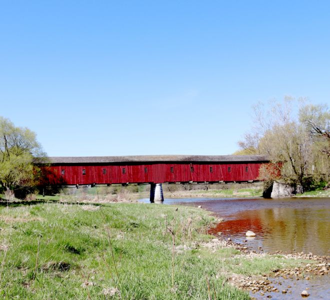 Stay at The Blue Bruce Bed & Breakfast & Enjoy St. Jacobs & the Surrounding Area. The West Montrose Covered Bridge.