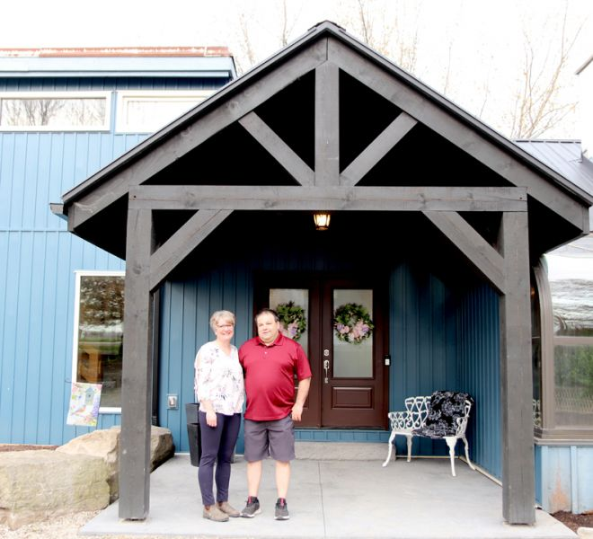 Kevin and Pam Kraemer, Owners of The Blue Bruce - Weddings | Bed & Breakfast | Events Near St. Jacobs Ontario